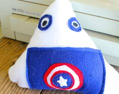 Captain America Sushi Riceball Plush Onigiri by NekoMushroom