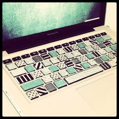 washi tape laptop  http://wishywashi.com for the tape!