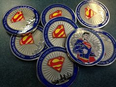 Limited Edition Superman coins created to benefit a local charity were given away at Carol and John's Comic Book Shop in Cleveland, OH
