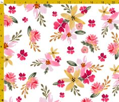 Spoonflower Floral Print Fabric Ideas for custom orders