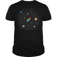 South Africa Country In Solar System Pride Tshirt