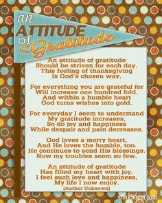 Thanksgiving Attitude of Gratitude printable {inkhappi}