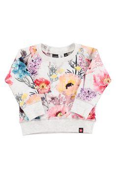 molo 'Elsa' Flower Print Sweatshirt (Baby Girls) available at #Nordstrom