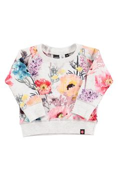 molo 'Elsa' Flower Print Sweatshirt (Baby Girls) available at #Nordstrom