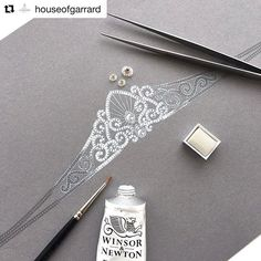 #Repost @houseofgarrard (@get_repost) ・・・ Inside the House of Garrard design studio: one of the new Princess Tiaras, inspired by the intricate patterns found in the gardens of royal palaces #garrard #tiara #finejewellery #giftinspiration