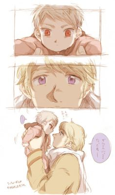 Russia and baby Prussia // this adorableness