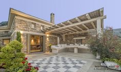 Sunrise Sea Villa: Luxury Villa for rent at Chorefto, Pelion Luxury Villa, Sunrise, Patio, Sea, Architecture, Outdoor Decor, Home Decor, Luxury Condo, Arquitetura