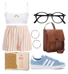 """""""Untitled #5"""" by emelynccarvalho on Polyvore featuring Thierry Colson, Forever 21, SHARO and adidas"""