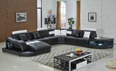 Tips That Help You Get The Best Leather Sofa Deal. Leather sofas and leather couch sets are available in a diversity of colors and styles. A leather couch is the ideal way to improve a space's design and th Large Sectional Sofa, Leather Sectional Sofas, Big Sofas, Modern Sectional, Chaise Sofa, Settee, Black Leather Sofa Bed, Leather Corner Sofa, Best Leather Sofa