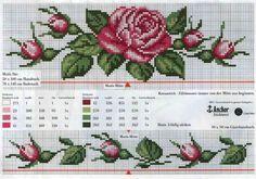 graficosderosas-de-ponto-cruz-500x400 Gráfico de rosas em ponto cruz para toalhas