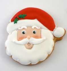 santa cookie - This looks like a cookie that was made for my Sunday school class every year way back in the day.