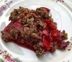 Vegan Strawberry Crisp with Hemp Seed Topping