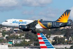 """Allegiant's """"Vegas Golden Knights"""" ferrying in from LAS as to fly a charter to CID later this afternoon. Insurgent Quotes, Divergent Quotes, Tfios, Allegiant Air, San Jose Airport, Divergent Funny, Looking For Alaska, Vegas Golden Knights, Kids Running"""