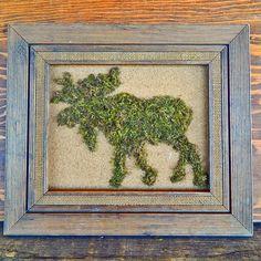 DIY Moss : DIY Moss Animal Silhouette