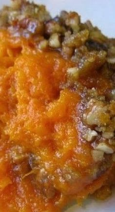 Ruth's Chris Sweet Potato Casserole-3 cups mashed sweet potatoes (can use canned to save time, just drain) 1 cup sugar 1/2 teaspoon salt 1 teaspoon vanilla 2 eggs (well beaten) 1/4 cup butter, melted (1/2 cup
