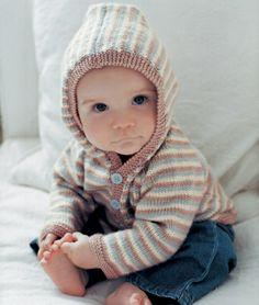 warmer Baby Pullover mit Kapuze selber machen Baby Sweater Patterns, Baby Sweaters, Winter Hats, Crochet Hats, Knitting, Diy, Fashion, Baby Knitting, Dots