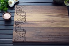 Personalized Engraved Wood Cutting Board, DNA Double Helix - 12x16 - Science Gift, Wedding Gift, Custom Kitchen Art, Geekery on Etsy, $55.00