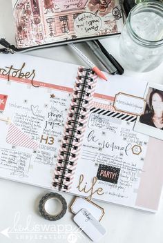 Heidi Swapp Instax Planner Kit put to use as an intentional living planner and inspiration calendar. @jamiepate for @heidiswapp