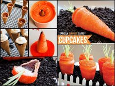 DIY Tutorial: Sparkling Surprise Carrot Cupcakes