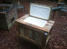 rustic cooler, diy, outdoor living, woodworking projects