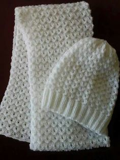 Baby Hats Knitting, Baby Knitting Patterns, Loom Knitting, Knitted Hats, Crochet Patterns, Crochet Scarves, Crochet Clothes, Knitting Projects, Crochet Projects