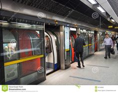 Photo about The Jubilee Line of the London Underground has electronic platform screen doors for safety in its new stations. Image of safety, passengers, subway - 33169969 Jubilee Line, London Underground Tube, Network Rail, Urban Planning, Safety, Screen Doors, Platform, City, Trains