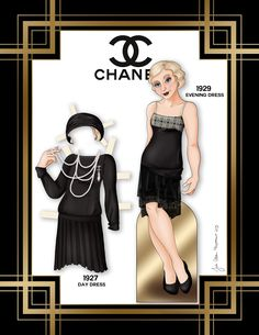 Paper Doll School: Chanel Paper Doll
