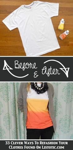 33 Clever Ways To Refashion Your Clothes - super cute and clever ideas.