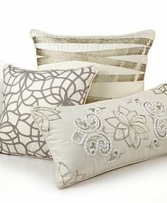 Martha Stewart Collection Bedding, Shimmer Decorative Pillow Collection - Throws & Decorative Pillows - for the home - Macy's