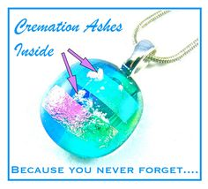 How we got started… and why we want to continue making cremation memorial keepsakes: A person from church approached us about making cremation pieces for her family. She knew we worked … Pet Cremation, Cremation Ashes, Cremation Jewelry, Heart Jewelry, Glass Jewelry, Pendant Jewelry, Fused Glass, Dichroic Glass, Stained Glass