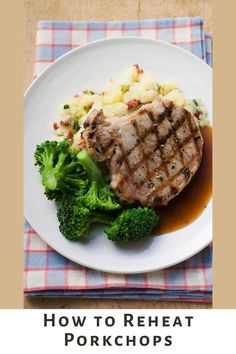 Leftover porkchops don't have to be dry. Here is our favorite way to reheat porkchops to keep them moist and tasty. Breaded Chicken, Leftover Pork Chops, Tender Pork Chops, Still Tasty, Food Now, Recipe Please, Vegetable Stock, White Bread