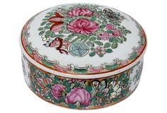 Rose Medallion Catchall w/ Lid