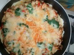 Lasagna vegetariana al sartén