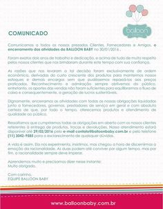 COMUNICADO IMPORTANTE!  Muito obrigado! Com Carinho, Equipe Balloon Baby #baby #babies #adorable #cute #cuddly #cuddle #small #lovely #love #instagood #kid #kids #beautiful #life #sleep #sleeping #children #happy #igbabies #childrenphoto #toddler #instababy #infant #young #photooftheday #sweet #tiny #little #family