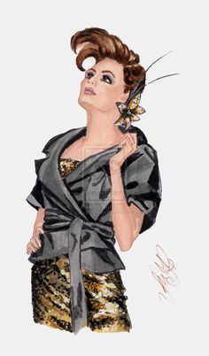 How to illustrate fabrics in fashion sketch: TAFFETA and SEQUINS