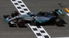 Race winner Nico Rosberg (GER) Mercedes AMG F1 W06 crosses the line at Formula One World Championship, Rd5, Spanish Grand Prix Race, Barcelona, Spain, Sunday 10 May 2015. © Sutton Motorsport Images