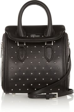 Alexander McQueen - Black The Heroine Mini Studded Leather Shoulder Bag -  Lyst fca3f9dc98638