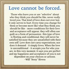 Love can not be forced...