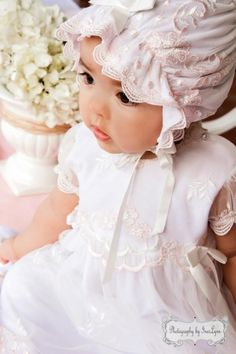 Baptism photography, Girls Lace Christening Gown, Baptism Gown
