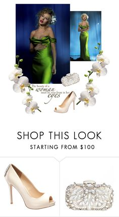 """""""Lady in Green"""" by apacheprincess ❤ liked on Polyvore featuring JL by Judith Leiber and Natasha"""