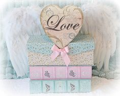 Shabby Chic Home Decor Cottage Chic Pastel Books by KathyFornal, $17.00
