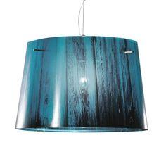 Designer Hängeleuchte Woody von Slamp Blau Spot Luminaire, Luminaire Led, Luminaire Design, Lampe Led, Woody, Inspiration Artistique, Lampshades, Hanging Lights, Blue Nails