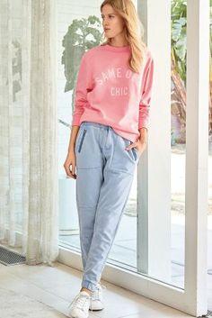Buy Pink Slogan Sweat from Next Australia