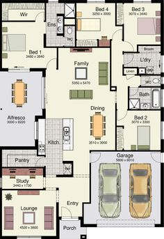 Denah Rumah 365565694754990121 - The Eureka 263 by Hotondo Homes has everything I want in a home! Source by frdricmasson 4 Bedroom House Plans, New House Plans, Dream House Plans, House Floor Plans, Family House Plans, New Home Designs, Home Design Plans, Hotondo Homes, Duplex Plans