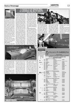 """La Gazzetta del Sulcis. n.558. 17 novembre 2011. Alberto Monteverde. """"Il viaggio di un grande eroe. La leggenda del Milite Ignoto""""."""
