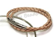 Wrap braided leather bracelet  Mens leather by LuckyBeadsBox