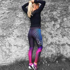 937181ae48b94 High Waist Neon Dot Fire Print Push Up Leggings. #leggings #yogapants #yoga