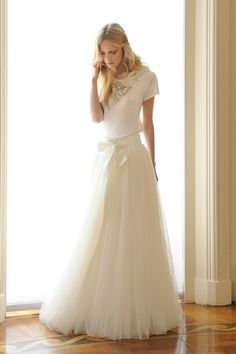 Tulle skirt and tee.