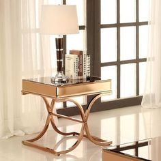Furniture of America Orelia Luxury Copper Metal End Table | Overstock.com Shopping - The Best Deals on Coffee, Sofa & End Tables