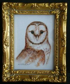 """Mary McAndrew's Nature Sketching and Painting: """"Two Barn Owls"""""""